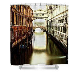 Venice Bridge Of Sighs Shower Curtain