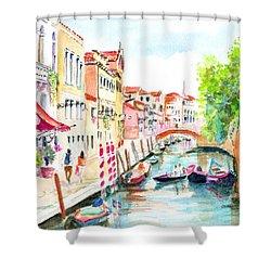 Venice Canal Boscolo Venezia Shower Curtain