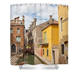 Shower Curtain featuring the photograph Venice Canal by Sharon Jones