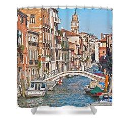 Venice Canaletto Bridging Shower Curtain by Heiko Koehrer-Wagner