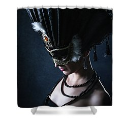 Shower Curtain featuring the photograph Venice Carnival Mask by Dimitar Hristov
