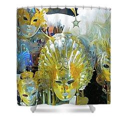 Venice Carnival Masks Shower Curtain