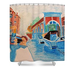 Venice Celebration Shower Curtain