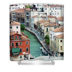 Venice City Of Canals Shower Curtain by Julie Palencia