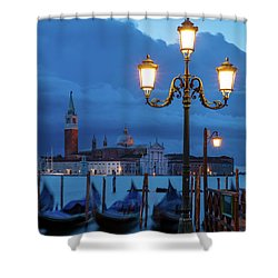Shower Curtain featuring the photograph Venice Dawn V by Brian Jannsen