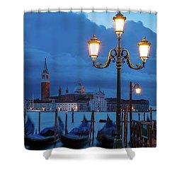 Venice Dawn V Shower Curtain by Brian Jannsen