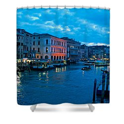 Shower Curtain featuring the photograph Venice Evening by Eric Tressler