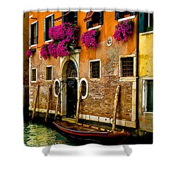 Venice Facade Shower Curtain by Harry Spitz