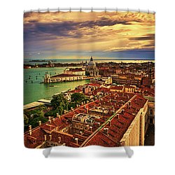 Venice From The Bell Tower Shower Curtain