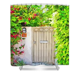 Shower Curtain featuring the photograph Venice Gate by Chuck Staley