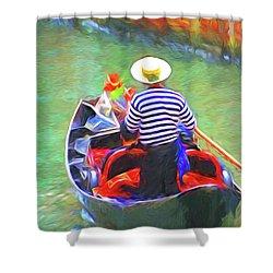 Venice Gondola Series #3 Shower Curtain by Dennis Cox