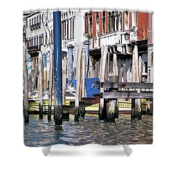 Shower Curtain featuring the photograph Venice Grand Canal by Allen Beatty