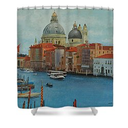 Venice Grand Canal I Shower Curtain