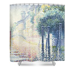 Venice Shower Curtain by Henri-Edmond Cross