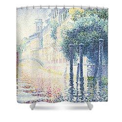 Venice Shower Curtain by Henri-Edmond Cross