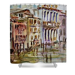 Shower Curtain featuring the painting Venice Impression II by Xueling Zou