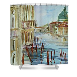Shower Curtain featuring the painting Venice Impression IIi by Xueling Zou