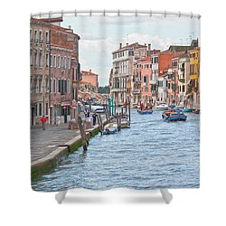 Venice In Pastel  Shower Curtain by Heiko Koehrer-Wagner