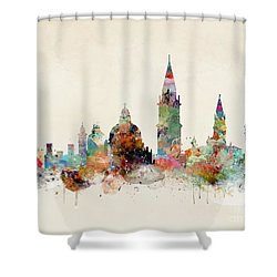 Shower Curtain featuring the painting Venice Italy by Bri B