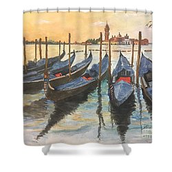 Shower Curtain featuring the painting Venice by Lucia Grilletto