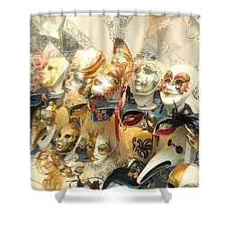 Venice Masks Shower Curtain