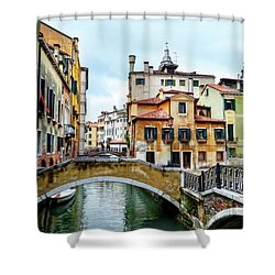 Venice Neighborhood Shower Curtain