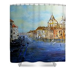 Venice Oil Sketch  Shower Curtain