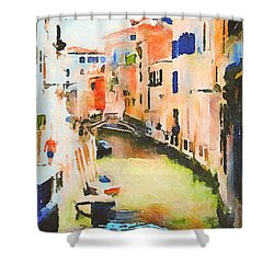 Venice On Waters Shower Curtain