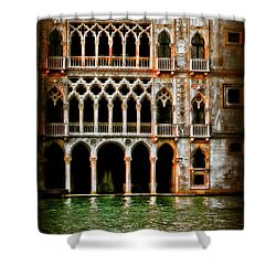 Venice Palace  Shower Curtain