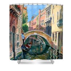 Venice Ponte Widmann Shower Curtain