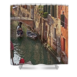 Venice Ride With Gondola Shower Curtain by Heiko Koehrer-Wagner