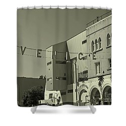 Venice Sign Shower Curtain