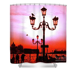 Venice Sunset Shower Curtain