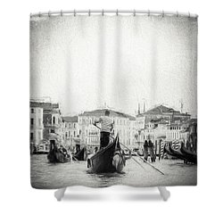 Venice Transportation Shower Curtain by Kathleen Scanlan