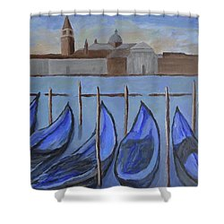 Shower Curtain featuring the painting Venice by Victoria Lakes