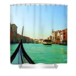 Shower Curtain featuring the photograph Venice Waterway by Roberta Byram
