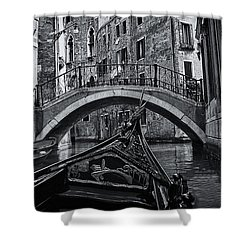 Shower Curtain featuring the photograph Venice Yesteryear by Andrew Soundarajan
