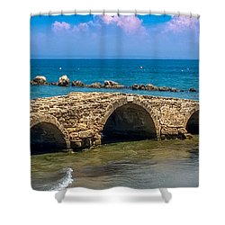 Venitian Bridge Argassi Shower Curtain