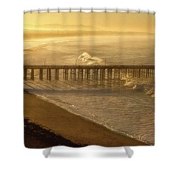 Ventura, Ca Pier At Sunrise Shower Curtain