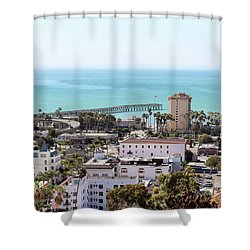 Shower Curtain featuring the photograph Ventura Coastal View by Art Block Collections
