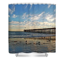 Ventura Pier At Sunset Shower Curtain