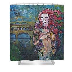 Venus And The Ponte Vecchio  Shower Curtain