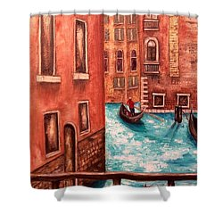 Venice Shower Curtain by Annamarie Sidella-Felts