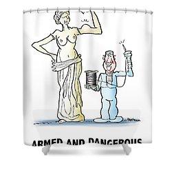 Venus De Muscles Shower Curtain