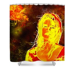 Venus Is Home Shower Curtain
