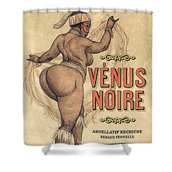 Venus Noire Shower Curtain