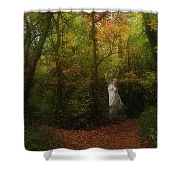 Venus Of The Woodland Shower Curtain by Cedric Hampton