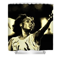 Venus Williams Match Point Shower Curtain by Brian Reaves