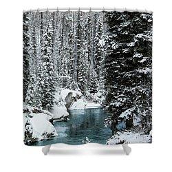 Verdant Creek - Winter 1 Shower Curtain by Stuart Turnbull