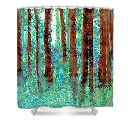 Verdant Vistas Shower Curtain